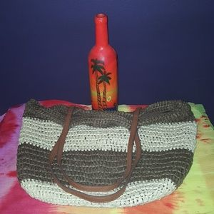 😎 Rattan Totally Beachin Bag 🏖🌞